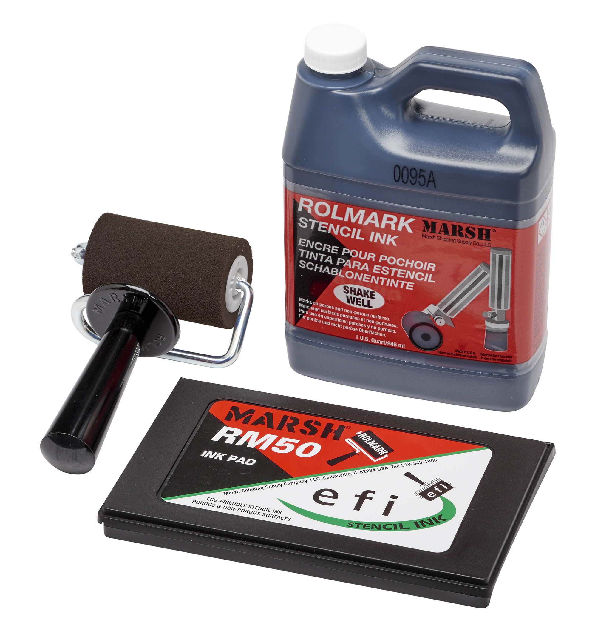 Rolmark Pad and Roller System